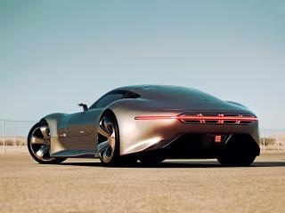 обои Серебристый Mercedes-Benz трехдверный фото