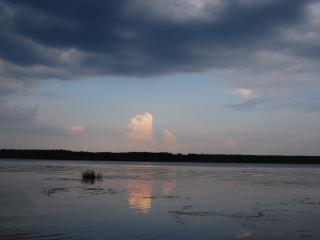 обои Облако в виде взрыва в небе фото