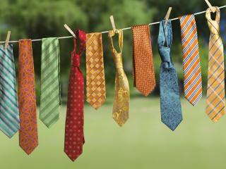 обои Сушка галстуков фото