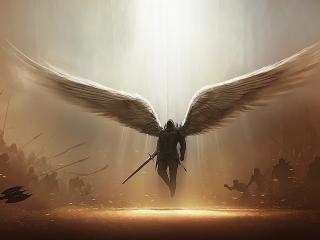 обои для рабочего стола: Крылатый воин света