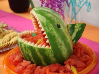 обои Арбуз - акула фото