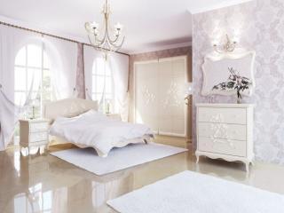 обои Интерьер белой спальни фото
