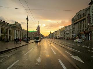 обои Дождливый день в Санкт-Петербурге фото