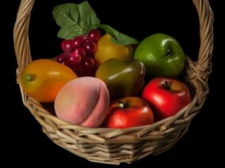 обои Корзина с фруктами фото