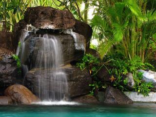обои Водопад острова Бора-Бора фото