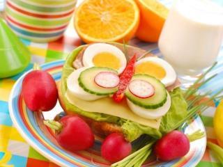 обои Фруктово-овощной завтрак фото