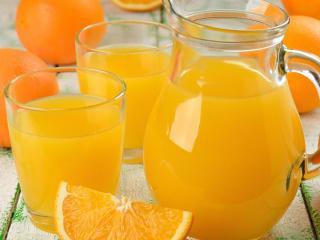обои Цитрусовый сок и фрукты фото