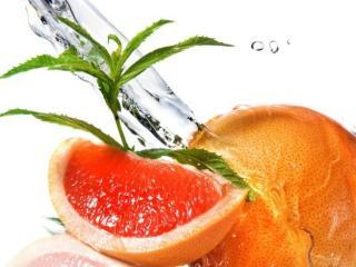 обои Плод,   долька и вода фото