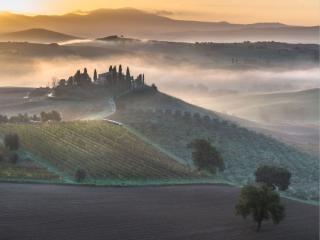 обои Вилла Бельведере - одна из наиболее живописных вилл Тосканы фото