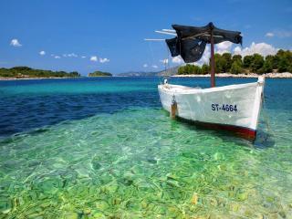 обои Лодка и море фото