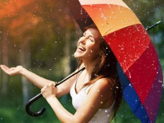 обои Радость летнему дождю фото