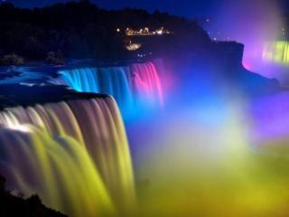 обои Ниагарский водопад в цвете фото