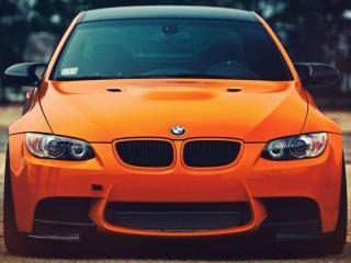 обои Оранжевый BMW фото
