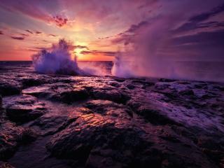 обои Сиреневые волны фото