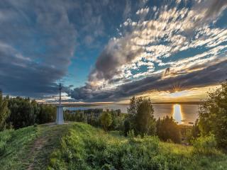 обои Вид на Галичское озеро фото