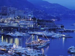 обои Ночной порт Монако фото