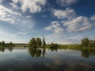 обои Озёра синие фото