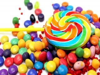обои Разноцветные сладости фото