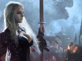 обои Блондинка из игры Legend of the Cryptids фото