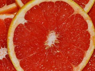 обои Сочная мякоть грейпфрута фото