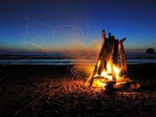 обои Шум прибоя и магия огня фото