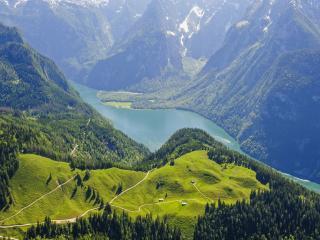 обои Вид на озеро Кёнигсзее фото