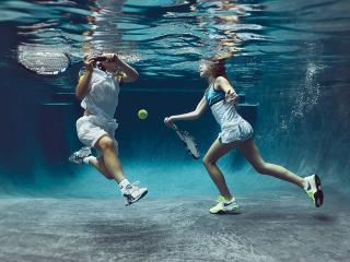 обои Подводный теннис фото