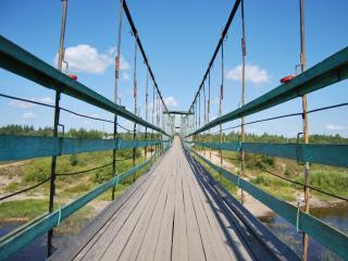 обои Мост над рекой фото