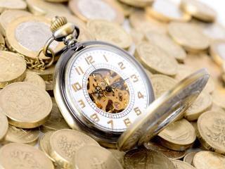 обои для рабочего стола: Время - деньги