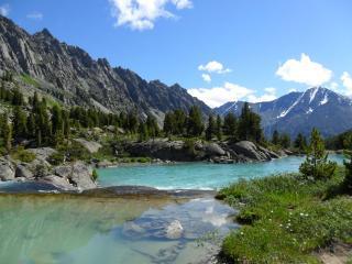обои Высокогорное озеро Дарашколь в Алтайских горах фото