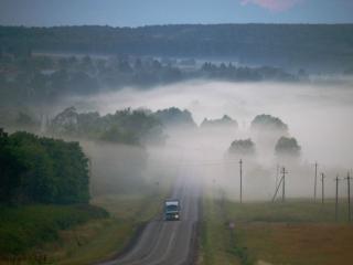 обои для рабочего стола: Выходящие из тумана