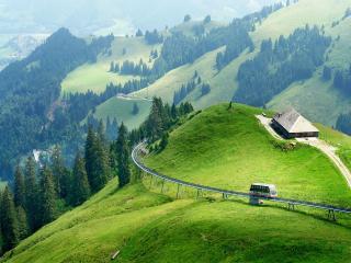обои Горная железная дорога. Швейцария фото