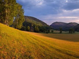 обои Гумеровское ущелье на рассвете. Ишимбайский район Республики Башкортостан фото