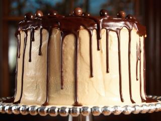обои Аппетитный шоколадный торт фото