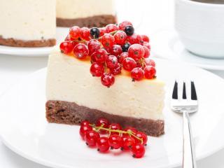 обои Кусочек торта со смородиной фото