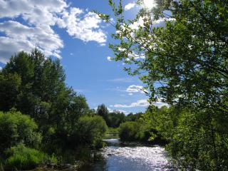 обои Быстрая холодная река фото