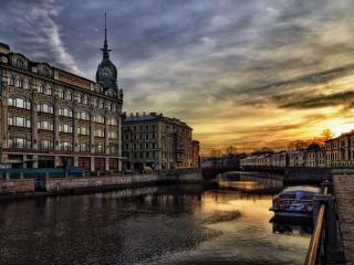 обои Раннее утро в Санкт-Петербурге фото