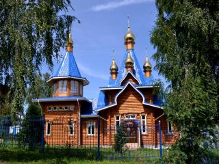 обои Храм в честь Владимирской иконы Божией Матери. Чувашия фото