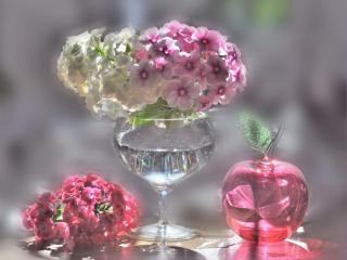 обои Цветочно-розовый хрусталь фото