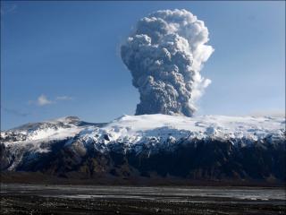 обои для рабочего стола: Голубой пепел вулкана