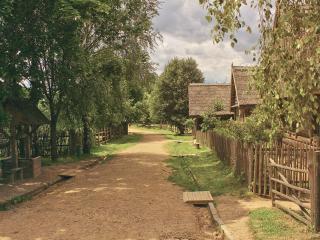 обои Деревенская улица фото
