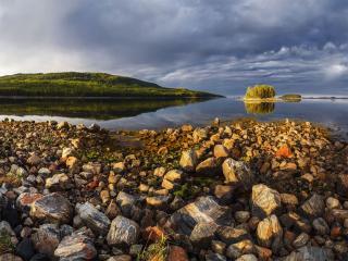 обои для рабочего стола: Камни Белого моря