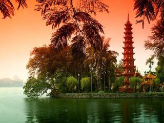 обои для рабочего стола: Вьетнамская осень