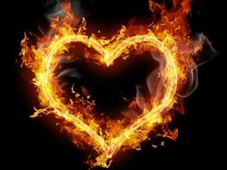 обои для рабочего стола: Огонь сердечный