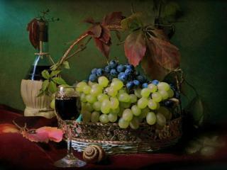 обои Осенний виноград фото