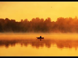 обои Рыбалка на рассвете фото