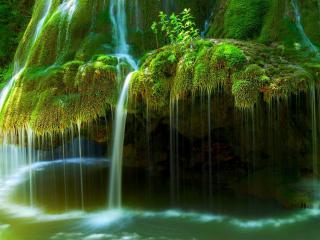 обои Водопад в тропиках фото