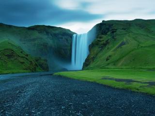обои Дорога к водопаду фото