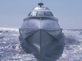 обои Современный корабль на волнах фото