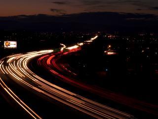 обои Ночная автострада фото